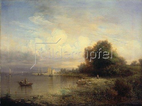Friedrich Thurau: Fischerboote auf dem Bodensee. 1852