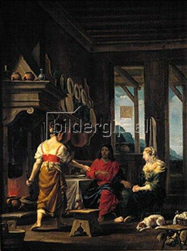 Johann Heiss: Christus im Hause von Maria und Martha.