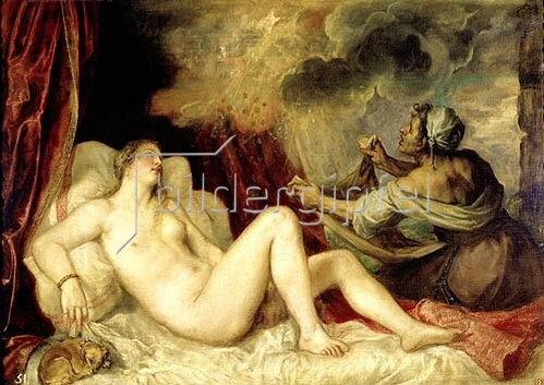 Tizian (Tiziano Vecellio): Danae. 1553