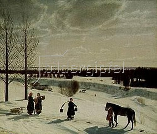 Nikifor Stepanow Kryloff: Russischer Winter. 1827.