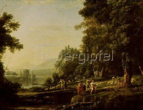 Claude Lorrain (Gellée): Landschaft mit Apollo und Marsyas.