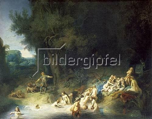Rembrandt van Rijn: Diana im Bade mit Aktaeon und Kallisto.