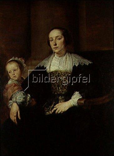 Anthonis van Dyck: Bildnis der Gemahlin des Malers Theodor Rombouts(?) und ihrer Tochter.