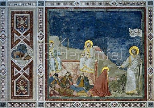 Giotto di Bondone: Die Auferstehung Christi.