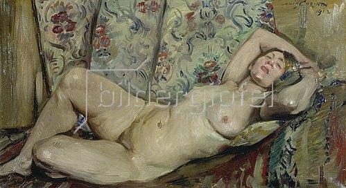 Lovis Corinth: Liegender weiblicher Akt. 1913.