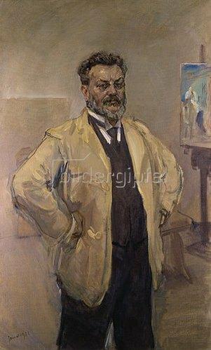 Max Slevogt: Grosses Selbstbildnis an der Staffelei. 1921