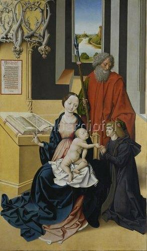 Meister von Großgmain: Madonna mit Stifter, vom Hl. Thomas empfohlen