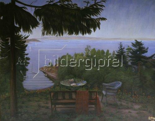 Harald Sohlberg: Sommernacht am Oslofjord. 1926.