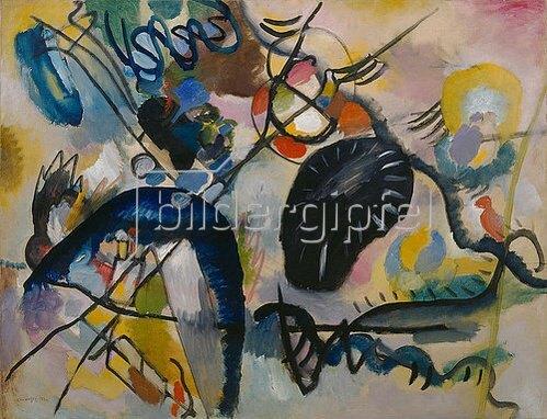 Wassily Kandinsky: Schwarzer Fleck I. 1912.