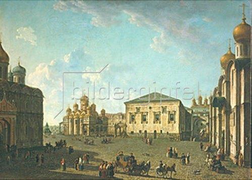 Fjodor Jakowlewitsch Aleksejew: Der Sobornaja-Platz im Kreml, Moskau. Um 1800.