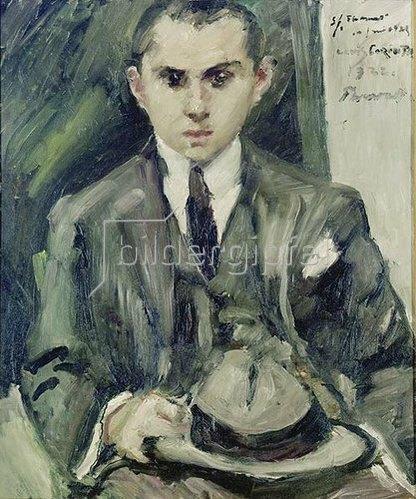 Lovis Corinth: Thomas mit Hut in der Hand. 1922.