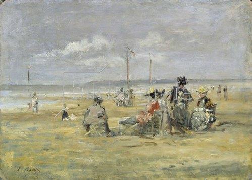 Eugène Boudin: Am Strand von Trouville.