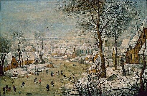 Pieter Brueghel d.J.: Winterlandschaft mit Vogelfalle.