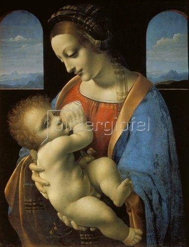 Leonardo da Vinci: Madonna Litta. Um 1490