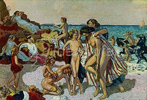 Maurice Denis: Bacchus und Ariadne. 1907.