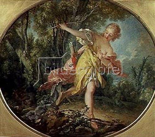 François Boucher: Sylvia flieht vor dem verwundeten Wolf. 1756