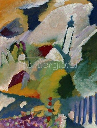 Wassily Kandinsky: Kirche in Murnau. 1910