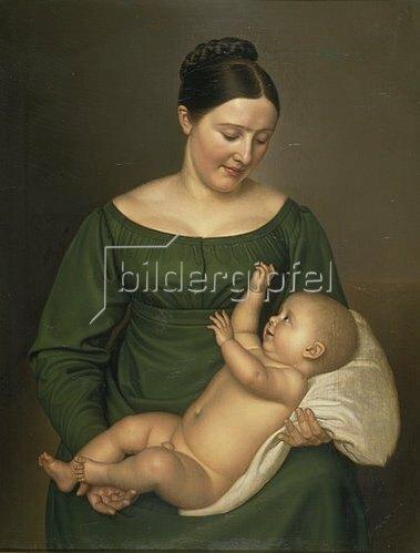 Carl Sieg: Mutter mit Kind.