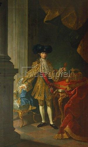 Schule Mytens (Meytens) d.J.: Kaiser Joseph II. von Österreich mit den Krönungsinsignien.