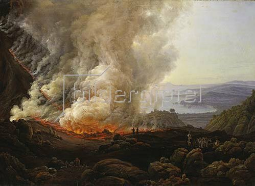Johan Christian Clausen Dahl: Vesuvausbruch. 1826