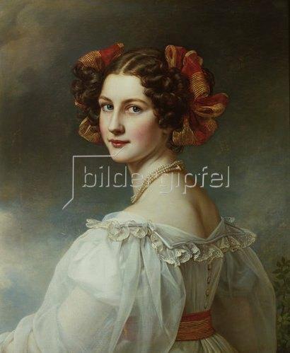 Joseph Karl Stieler: Auguste Hilber, geb.Strobl. 1827. Aus der Schönheitengalerie König Ludwig's I.