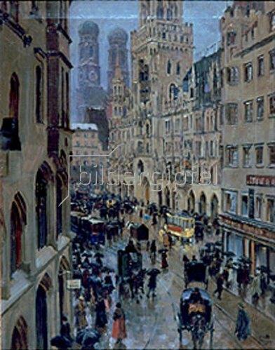 Charles Vetter: Marienplatz München. 1910