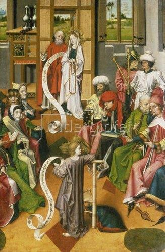 Meister von Iserlohn: Der 12-jährige Jesus im Tempel. Westfalen, um 1450