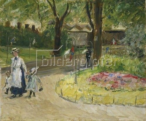 Max Slevogt: Eingang zum Zoologischen Garten in Frankfurt (Papageienallee). 1901