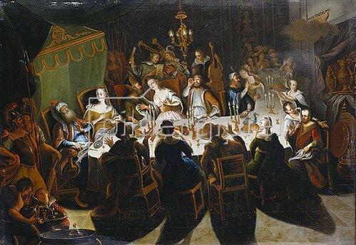 Flämisch: Das Festmahl Belsazars.