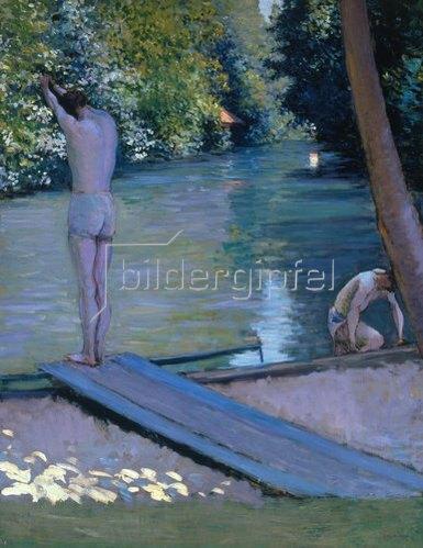 Gustave Caillebotte: Badende am Ufer des Flusses Yerres.