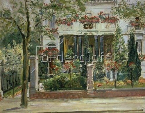 Max Slevogt: Vorgarten der Steinbart'schen Villa in Berlin. 1911