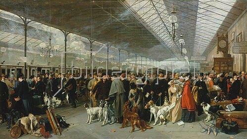George Earl: Reisende in der Station von Perth vor der Abreise in den Süden.