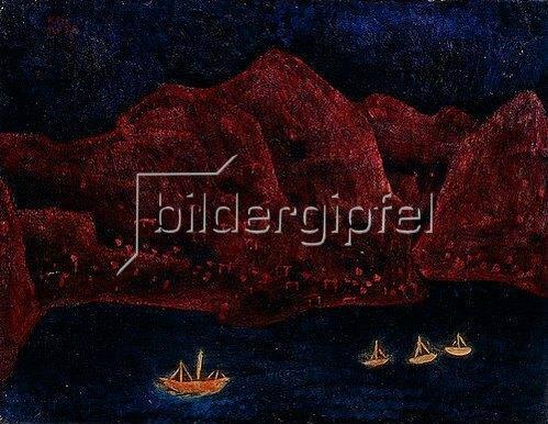 Paul Klee: Südliche Küste abends. 1925 T 5