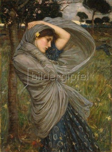 John William Waterhouse: Boreas. (Personifikation des winterlichen Nordwindes)