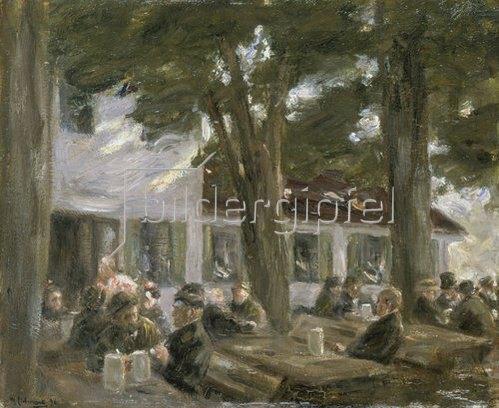 Max Liebermann: Biergarten zu Brannenburg. 1896.