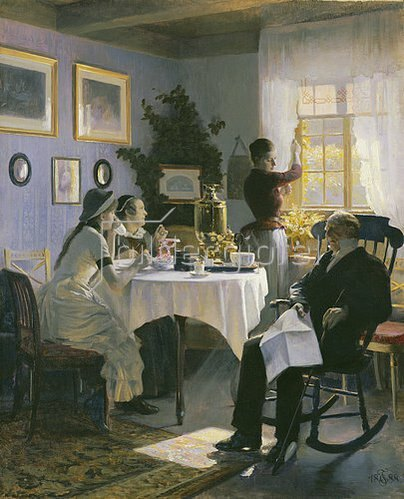Carl Thomsen: Teestunde am Sonntag Nachmittag. 1888