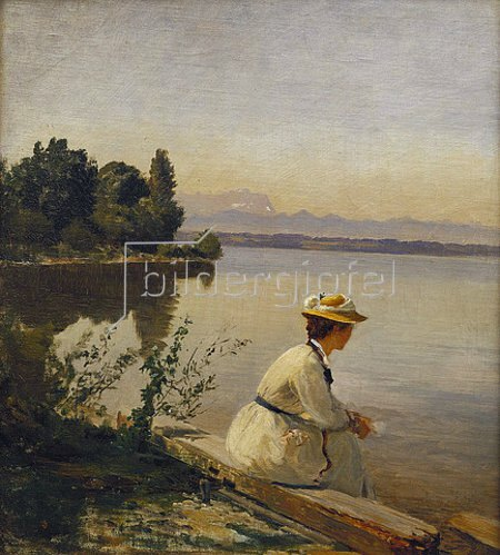 Anders Andersen-Lundby: Am Starnberger See bei Leoni.
