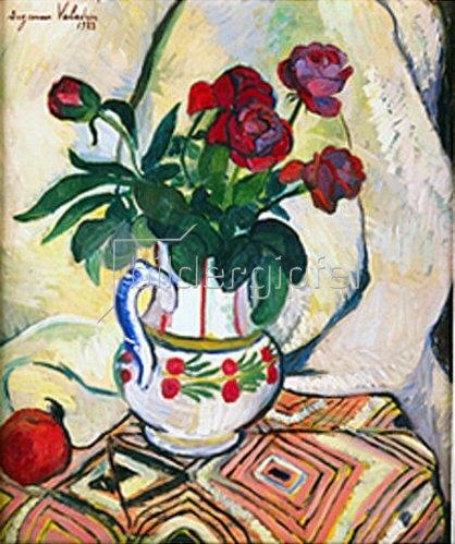 Suzanne Valadon: Rosenstrauss in weisser Vase. 1923.