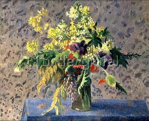 Camille Pissarro: Blumenstrauss mit Mohnknospen und Iris. 1898.