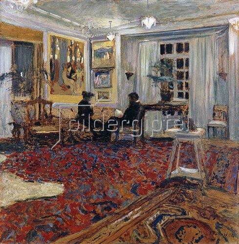 Edouard Vuillard: Plauderei im Salon (Monsieur und Madame Arthur Fontaine). 1904
