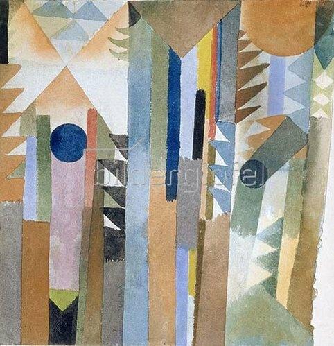 Paul Klee: Der Wald, der aus dem Samenkorn entstand. 1915