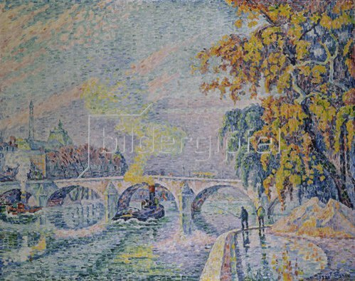 Paul Signac: Pont Royal in Paris im Herbst. 1920