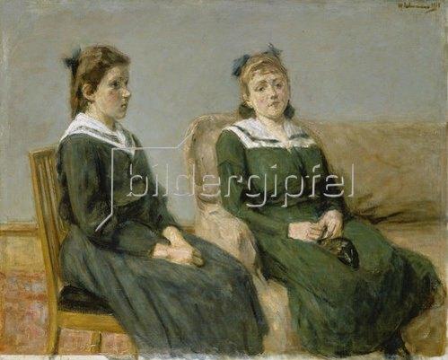 Max Liebermann: Die beiden Schwestern Leder. 1918.