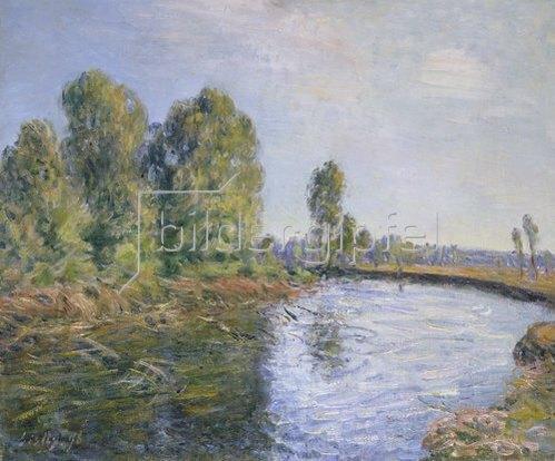 Alfred Sisley: Am Ufer des Flusses Loing.