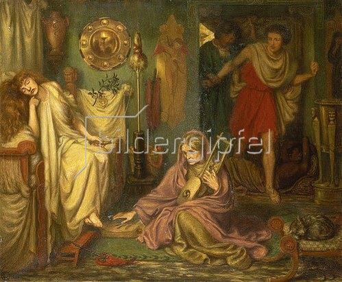 Dante Gabriel Rossetti: Die Rückkehr von Tibullus zu Delila.