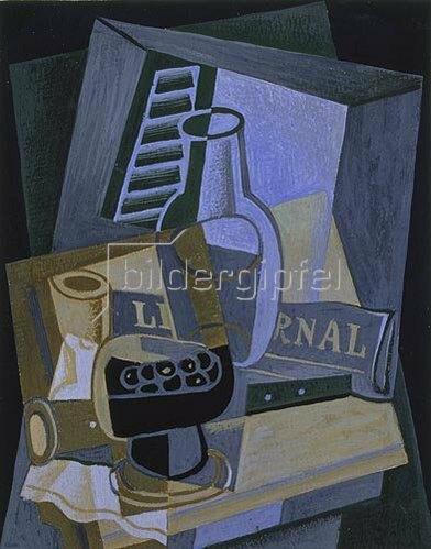 Juan Gris: Stillleben vor dem Fenster. 1922