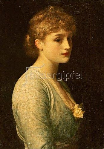 Frederic Leighton: Verträumtes Bildnis einer jungen Frau.