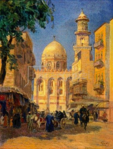 Károly Cserna: Vor einer Moschee in Kairo
