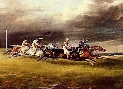 Théodore Géricault: Das Derby in Epsom. 1821