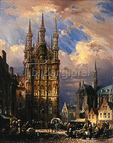 Friedrich Eibner: Das Rathaus zu Löwen (Brabant).